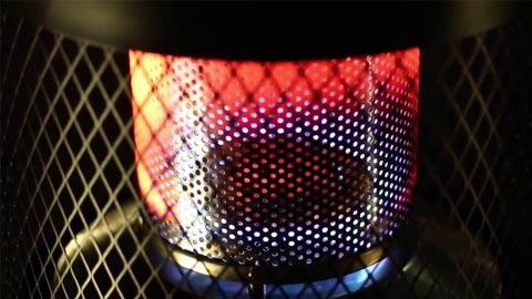 Инфракрасное излучение от горелки обогревателя Enders