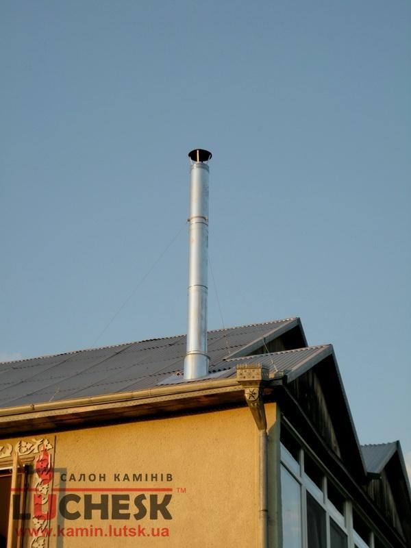 Дымоход из нержавеющей стали с термоизоляцией.